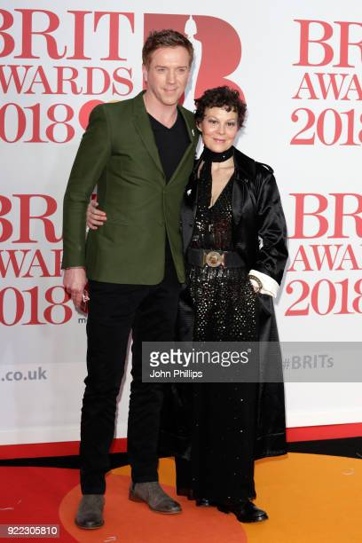 AWARDS 2018*** Damian Lewis and Helen McCrory attend The BRIT Awards 2018 held at The O2 Arena on February 21 2018 in London England