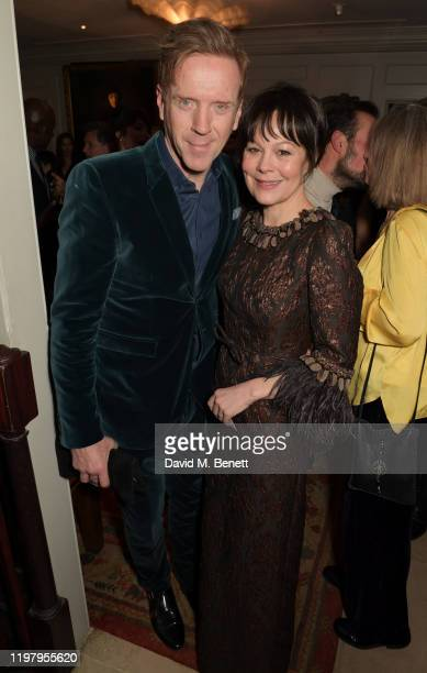 Damian Lewis and Helen McCrory attend the Charles Finch CHANEL PreBAFTA Party at 5 Hertford Street on February 1 2020 in London England