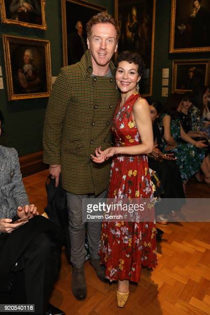 Damian Lewis and Helen McCrory attend the ERDEM show during London Fashion Week February 2018 on February 19 2018 in London England