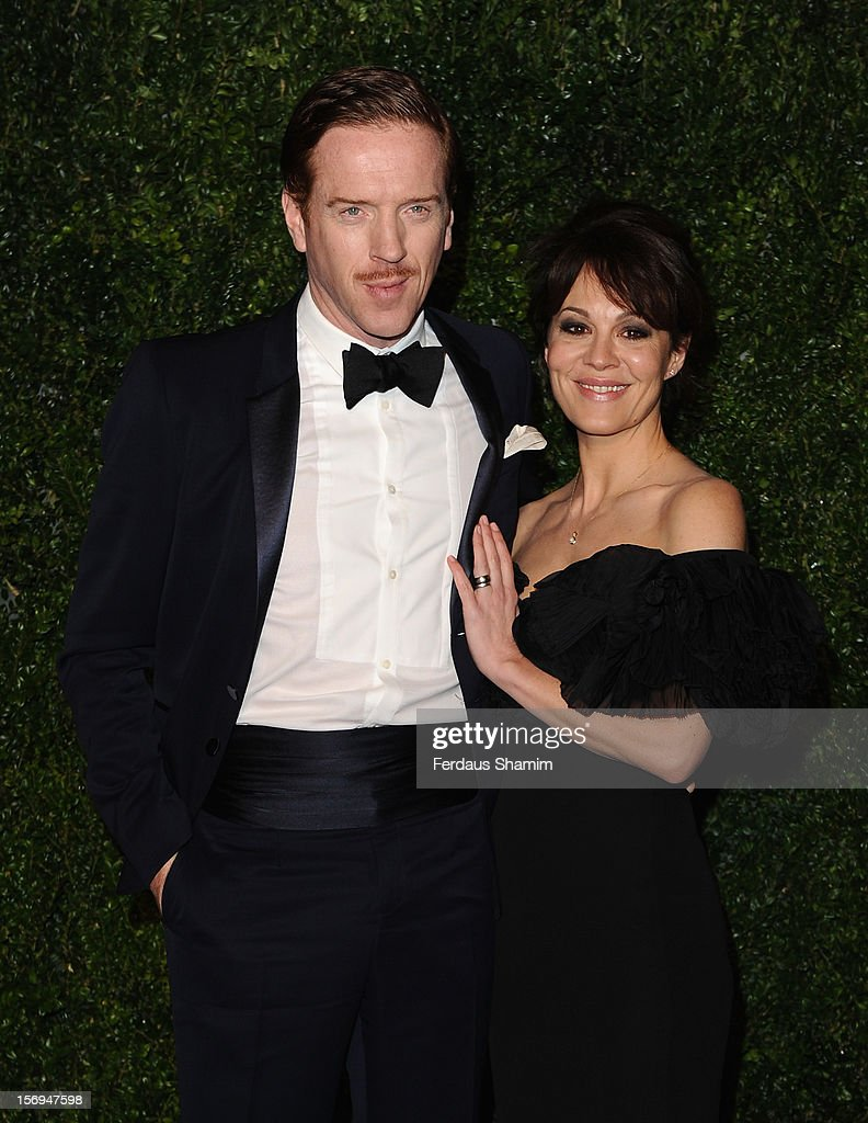 Damian Lewis and Helen McCrory attend the London Evening Standard Theatre Awards on November 25, 2012 in London, England.