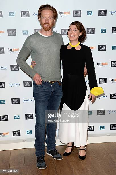 """Damian Lewis and Helen McCrory attend the Premiere of BBC Two's drama """"Peaky Blinders"""" episode one, series three at BFI Southbank on May 3, 2016 in..."""