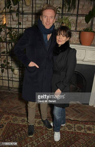 """Damian Lewis and Helen McCrory attend the press night after party for """"Uncle Vanya"""" at Sophie's on January 23, 2020 in London, England."""