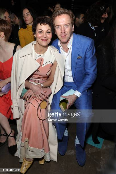 Damian Lewis and Helen McCrory attend the Roksanda show during London Fashion Week February 2019 at the Old Selfridges Hotel on February 18 2019 in...