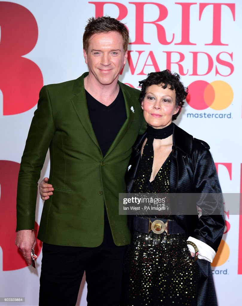 Damian Lewis and Helen McCrory attending the Brit Awards at the O2 Arena, London.