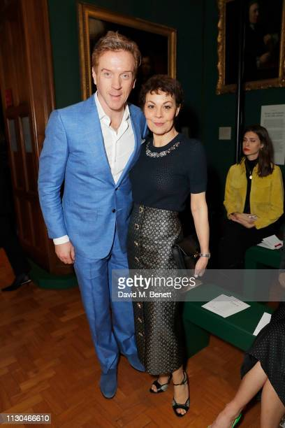Damian Lewis and Helen McCrory attends the Erdem show during London Fashion Week February 2019 at National Portrait Gallery on February 18, 2019 in...