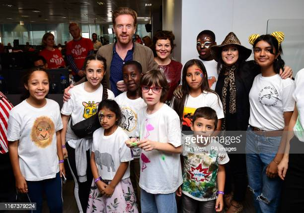 Damian Lewis and Helen McCrory during the 15th BGC annual charity day at Canary Wharf in London in commemoration of BGC's 658 colleagues and the 61...