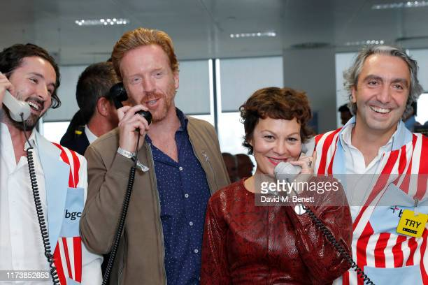 Damian Lewis and Helen McCrory representing Sir Hubert Von Herkomer Arts Foundation attend BGC Charity Day at One Churchill Place on September 11...