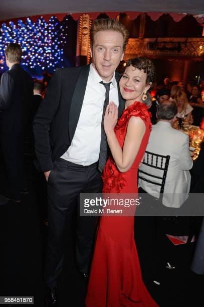 Damian Lewis and Helen McCrory wearing Buccellati jewelry attend The Old Vic Bicentenary Ball to celebrate the theatre's 200th birthday at The Old...