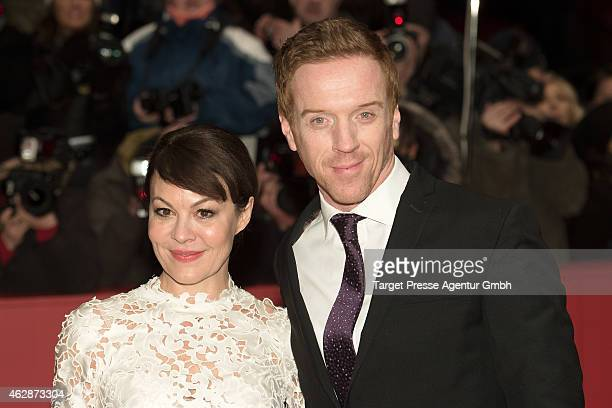 Damian Lewis and his wife Helen McCrory attend the 'Queen of the Desert' premiere during the 65th Berlinale International Film Festival at Berlinale...