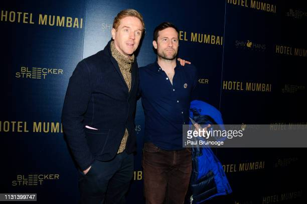 Damian Lewis and Jonathan Forbes attend Bleecker Street ShivHans Pictures Hosts A Special Screening at Museum of Modern Art on March 17 2019 in New...