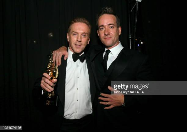 Damian Lewis and Matthew Macfadyen attend the 2018 British Academy Britannia Awards presented by Jaguar Land Rover and American Airlines at The...