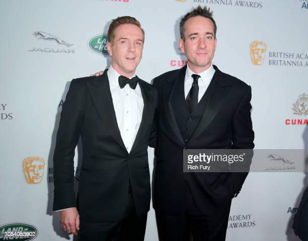 Damian Lewis and Matthew Macfayden attends the 2018 British Academy Britannia Awards presented by Jaguar Land Rover and American Airlines at The...
