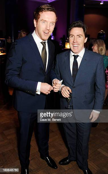 Damian Lewis and Rob Brydon attend the London Evening Standard British Film Awards supported by Moet Chandon and Chopard at the London Film Museum on...