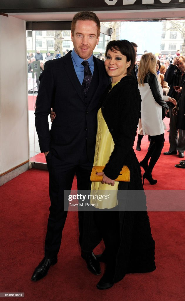 Damian Lewis (L) and wife Helen McCrory attend The Prince's Trust & Samsung Celebrate Success Awards at Odeon Leicester Square on March 26, 2013 in London, England.