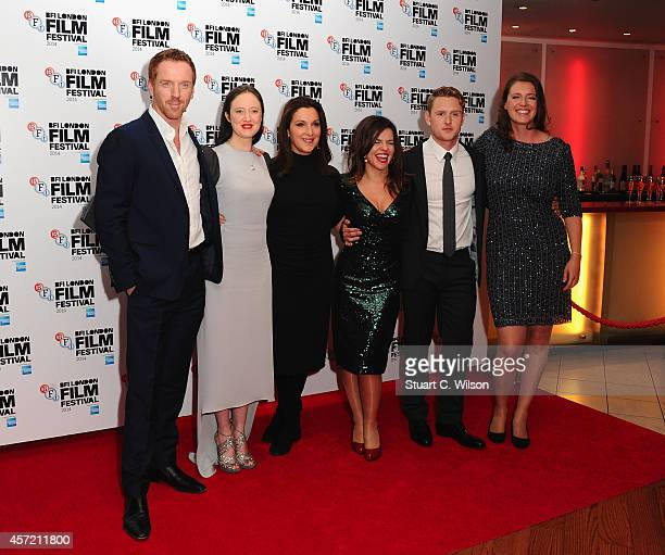 Damian Lewis Andrea Riseborough Barbara Broccoli Corinna McFarlane Ross Anderson and Nicky Bentham attend the red carpet arrivals of Silent Storm...