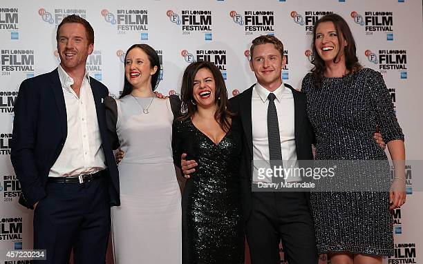 Damian Lewis Andrea Riseborough Barbara Broccoli Corinna McFarlane Ross Anderson and Nicky Bentham attends a screening of 'Silent Storm' during the...