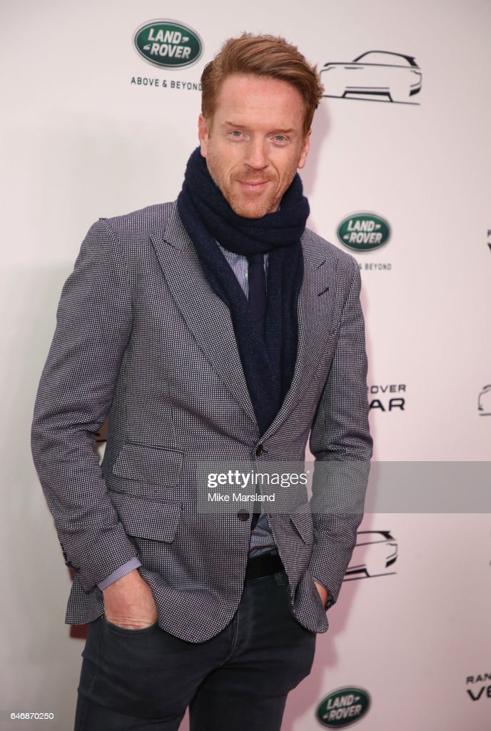 Damian Lewis arrives at the launch of the New Range Rover Velar on March 1, 2017 in London, United Kingdom.