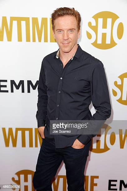 Damian Lewis arrives at the Showtime 2015 Emmy Eve Party at Sunset Tower Hotel on September 19 2015 in West Hollywood California