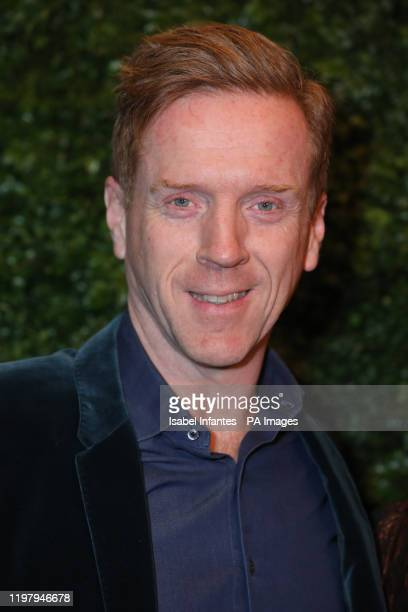 Damian Lewis arriving at the Charles Finch and Chanel pre-Bafta party at 5 Hertford Street in Mayfair, London.