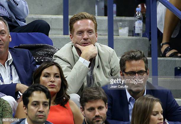 Damian Lewis attends the men's final between Novack Djokovic of Serbia and Stan Wawrinka of Switzerland at Arthur Ashe Stadium on day 14 of the 2016...