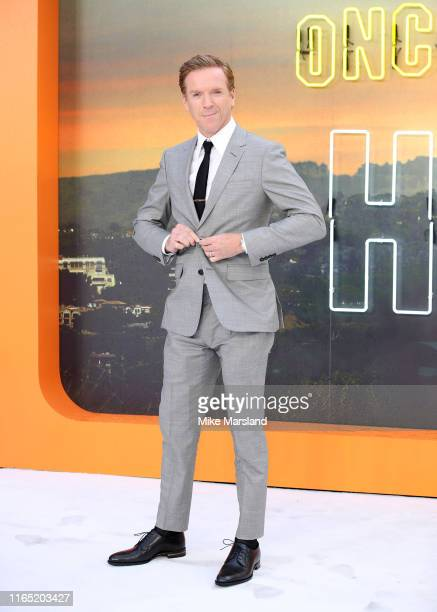 """Damian Lewis attends the """"Once Upon A Time In Hollywood"""" UK Premiere at Odeon Luxe Leicester Square on July 30, 2019 in London, England."""