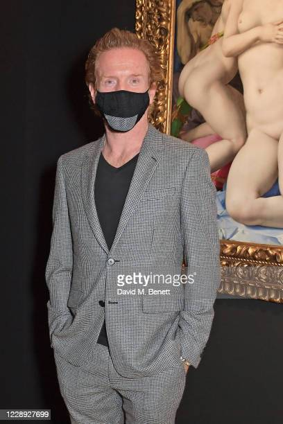 Damian Lewis attends the private view of the newly opened 'Artemisia' & 'Sin' exhibitions at The National Gallery on October 6, 2020 in London,...