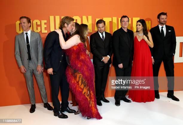 Damian Lewis Brad Pitt Lena Dunham Margot Robbie Leonardo DiCaprio Quentin Tarantino Daniella Pick Costa Ronin attending the Once Upon A Time In...