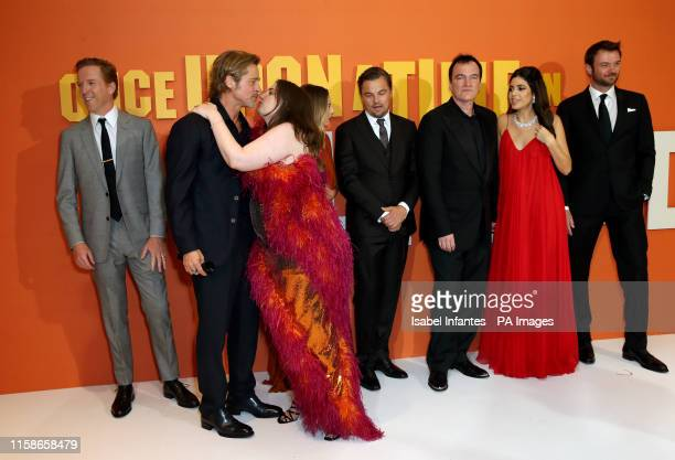 Damian Lewis , Brad Pitt, Lena Dunham, Margot Robbie, Leonardo DiCaprio, Quentin Tarantino, Daniella Pick, Costa Ronin attending the Once Upon A...
