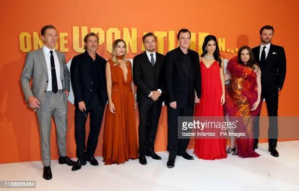 Damian Lewis Brad Pitt Leonardo DiCaprio Quentin Tarantino Daniella Pick Lena Dunham Costa Ronin attending the Once Upon A Time In Hollywood UK...