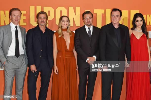Damian Lewis Brad Pitt Margot Robbie Leonardo DiCaprio Quentin Tarantino and Daniela Pick Tarantino attend the UK Premiere of Once Upon a TimeIn...