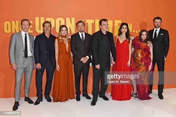 Damian Lewis, Brad Pitt, Margot Robbie, Leonardo DiCaprio, Quentin Tarantino, Daniela Pick Tarantino, Lena Dunham and Costa Ronin attend the UK...