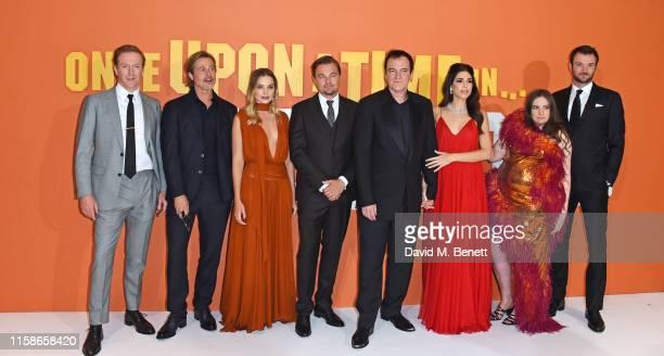 Damian Lewis Brad Pitt Margot Robbie Leonardo DiCaprio Quentin Tarantino Daniela Pick Tarantino Lena Dunham and Costa Ronin attend the UK Premiere of...