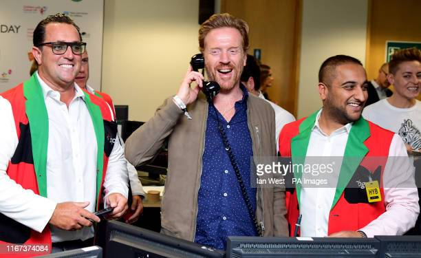 Damian Lewis during the 15th BGC annual charity day at Canary Wharf in London in commemoration of BGC's 658 colleagues and the 61 Eurobrokers...