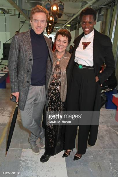 Damian Lewis Helen McCrory and Sheila Atim attend the Christopher Kane show during London Fashion Week February 2019 on February 18 2019 in London...