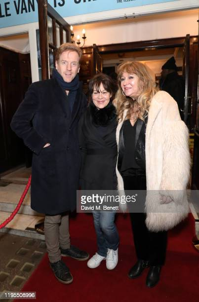"Damian Lewis, Helen McCrory and Sonia Friedman arrive at the press night performance of ""Uncle Vanya"" at The Harold Pinter Theatre on January 23,..."
