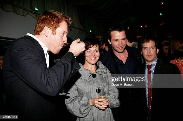 Damian Lewis Helen McCrory James Purefoy and Tom Hollander attend the a fundraiser party for the Almeida Theatre at the Almeida Theatre on March 23...