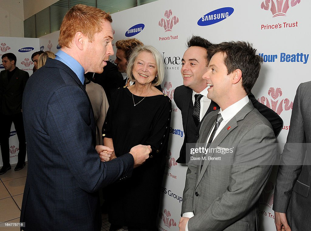 Damian Lewis, Kate Adie, Anthony McPartlin and Declan Donnelly attend The Prince's Trust & Samsung Celebrate Success Awards at Odeon Leicester Square on March 26, 2013 in London, England.