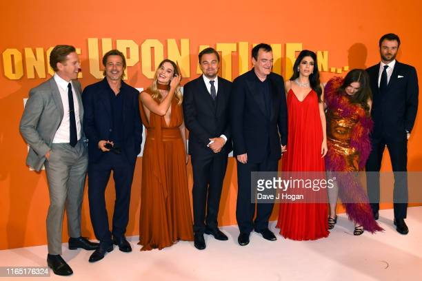 Damian Lewis Margot Robbie Leonardo DiCaprio Quentin Tarantino Daniella Pick Lena Dunham and Costa Ronin attend the Once Upon a Time in Hollywood UK...