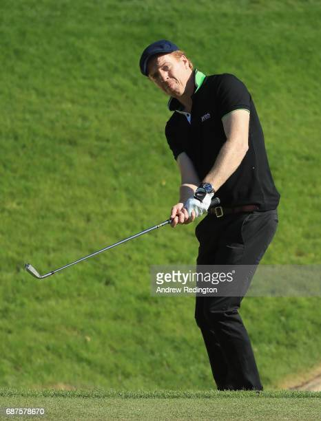 Damian Lewis on the 3rd during the BMW PGA Championship ProAM at Wentworth on May 24 2017 in Virginia Water England