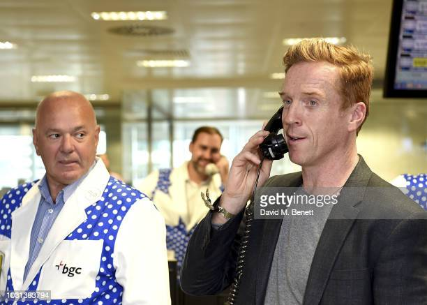 Damian Lewis representing the Sir Hubert Von Herkomer Foundation trades during the BGC Charity Day at One Churchill Place on September 11 2018 in...