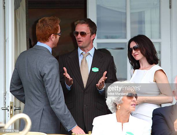 Damian Lewis Rupert Penry Jones and Dervla Kirwan attends the Cartier International Polo Day at Guards Polo Club on July 26 2009 in Egham England