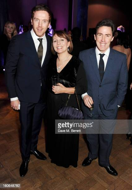 Damian Lewis Sarah Sands and Rob Brydon attend the London Evening Standard British Film Awards supported by Moet Chandon and Chopard at the London...
