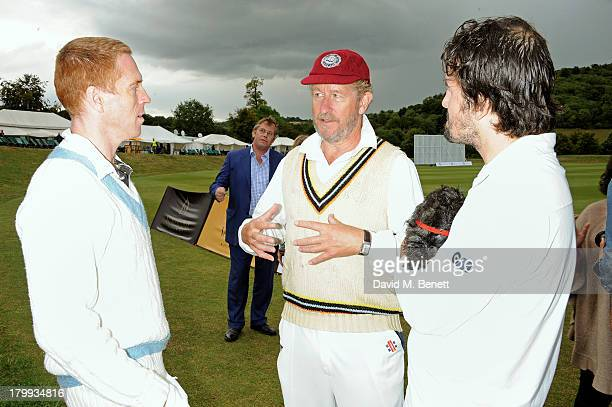 Damian Lewis Sebastian Faulks and Charlie Campbell attend the first ever 'Words For Wickets' festival featuring teams made up of authors and actors...