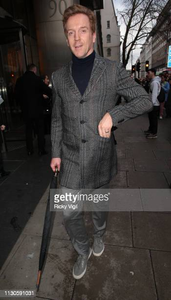 Damian Lewis seen attending Christopher Kane catwalk show at 90 High Holborn during LFW February 2019 on February 18 2019 in London England