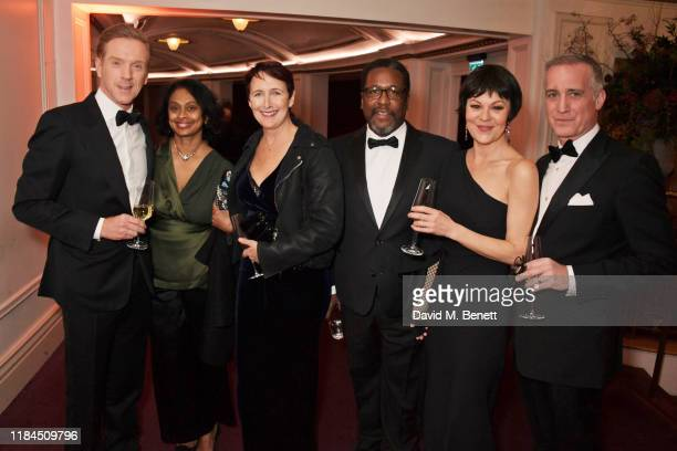 Damian Lewis, Sonali Deraniyagala, Fiona Shaw, Wendell Pierce, Helen McCrory and Nick Sidi attend the 65th Evening Standard Theatre Awards in...
