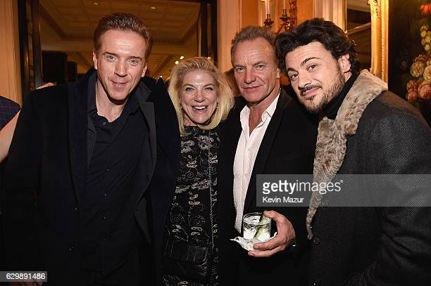 Damian Lewis Sting and Vittorio Grigolo attend The Revlon Concert for the Rainforest Fund Baby It's Cold Outside After Party at Essex House on...