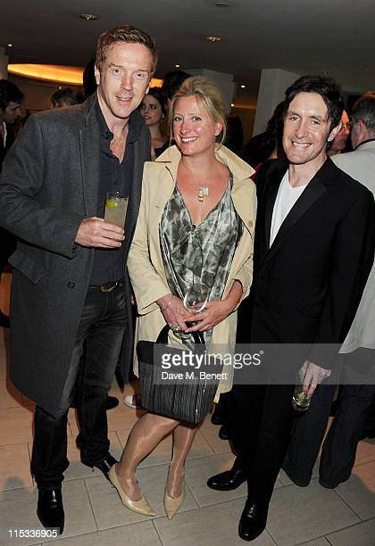 Damian Lewis Susannah Harker and Paul McGann attend an after party following press night of the new West End production of Simon Gray's Butley at...