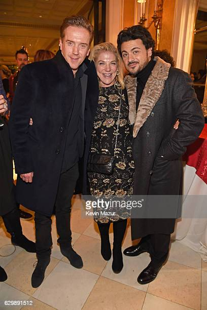 Damian Lewis Vittorio Grigolo attend The Revlon Concert for the Rainforest Fund Baby It's Cold Outside After Party at Essex House on December 14 2016...