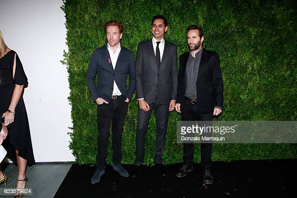 Damian Lewis,Rajendra Roy and Alessandro Nivola at theThe Museum of Modern Art Film Benefit: A Tribute to Tom Hanks at The Museum of Modern Art on...