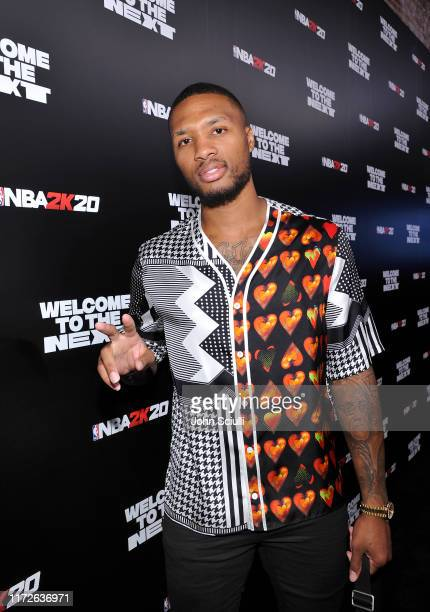 Damian Lillard attends the NBA 2K20 Welcome to the Next on September 05 2019 in Los Angeles California